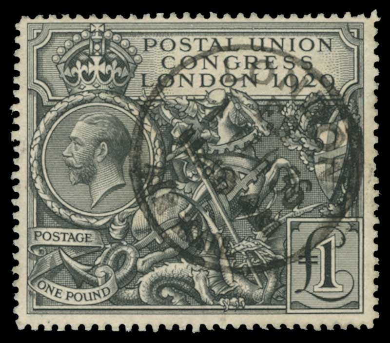 1929 £1 PUC fine used. Faint ink mark on reverse. Sg 438. Catalogue Value £550.00.