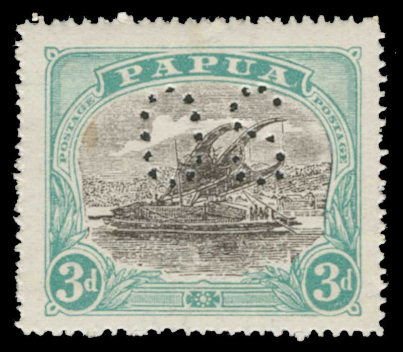 1930 2d Deep Brown-Purple and Lake and 3d Black and Blue-Green Lakatois perf OS MLH. Sg O49-O50. Catalogue Value £150.00.
