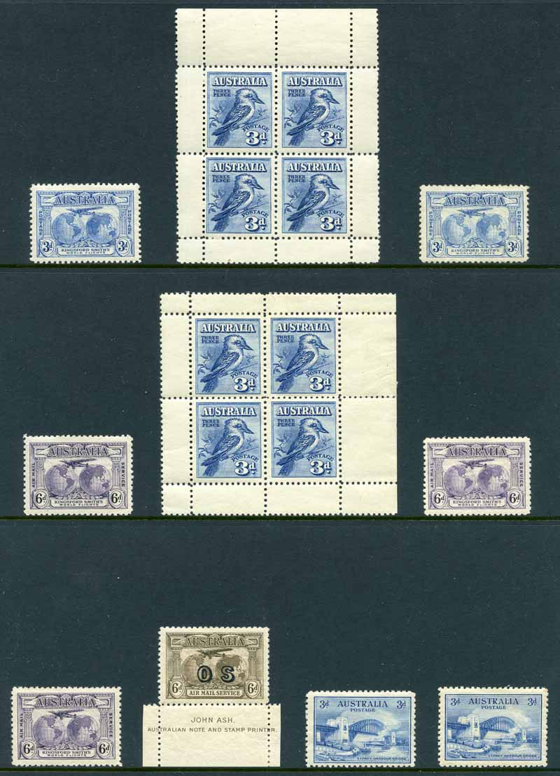 Selection of 138 mint Pre-Decimal issues from 1928 to 1965, including 1928 3d Blue Kooka M/S (2), 1932 1/- Lyrebird, 1935 2/- Silver Jubilee, 1940 6d AIF (3), 1946 BCOF set (mint without gum), 1950 £2 Arms, 1963-64 Navigator set including additional £2 value and other handy issues. Mainly lightly hinged with some minor faults.