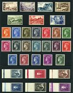 1948-55 Tourist Propaganda set, 1948-58 Grand Duchess Charlotte Definitive set excluding 1958 20c, 30c 50c and 5f values (1f60 value has slight marks on gum), 1950 War Orphans Relief Fund set and 1956 3f and 4f Europa MUH. Sg 505a-509, 513a-524 (ex 514a, 515a, 515c and 522a), 533-538 and 610-611. Catalogue Value £413.00.
