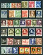 Collection of MUH, MLH and FU stamps from 1949 to 1972, including 1949 1Dm Yellow-Olive UPU FU, 1949 20pf + 5pf and 30pf + 5pf Berlin Relief Fund MLH, 1951-52 Freedom Bell Clapper at right set MLH and 1952-53 Famous Berliners set FU. Odd minor fault. Catalogue Value £1,305.00.