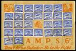 1940 6d Blue Plane War Savings stamp (27) in War Savings folder. 2 stamps stained.