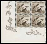 1950 Animals set in MUH well centered corner blocks of 4. One 30r value has faint crease. Sg 283-285. Catalogue Value £440.00.