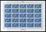 1949 40¢ Blue U.P.U in MUH complete sheet of 25. Sg 279. Catalogue Value £193.75.