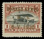 1930 Air set with Surcharge in ordinary ink excluding 5¢ value and 1930 Graf Zeppelin Overprint set. Sg 229-235 and 241-243. Catalogue Value £488.00.