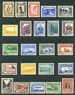 1936 Pictorial set MLH, the 70¢ and 80¢ Air issues with light gum toning. Catalogue Value £280.00.