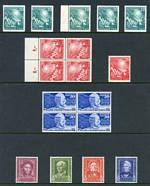 1949 Opening of West German Parliament set (5), 1949 30pf UPU (4) and 1949 Refugees Relief Fund set MUH and well centered. Sg 1033-1034 and 1038-1039. Catalogue Value £1,055.00.