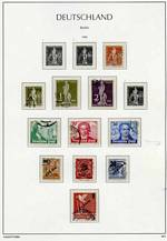 Collection of fine used stamps from 1948 to 1990 in Lighthouse Hingeless album. Largely complete from 1949-54 Buildings set onwards, excluding 1949 Berlin Relief Fund set and M/S, plus a few lesser items only. Some early items with toning blemishes. Catalogue Value £3,820.00.