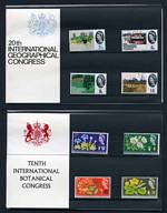1964 Geographical Congress, 1964 Botanical Congress, 1965 Churchill, 1965 Anniversary of Parliament and 1965 Battle of Britain presentation packs. Retail £302.00.