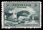 1932 5/- Green Sydney Harbour Bridge CTO and centered high.