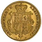 1871 Sydney Mint Shield Reverse Queen Victoria Young Head Gold Half Sovereign gEF.