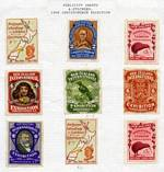 1906 Christchurch Exhibition Labels set of 7, plus additional NZ Map and Kiwi labels in fine MLH condition. Usual minor blemishes.