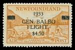 1933 $4.50 on 75¢ Yellow Brown Balboa Transatlantic Flight issue MLH and well centered. Catalogue Value £275.00.