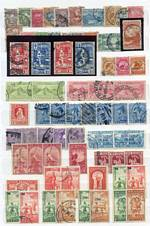 Collection of mostly used stamps from 1874 to 1995, including numerous sets and handy range of early issues with some duplication in 4 stockbooks and 2 loose leaf albums. Noted 1903 5/- Single Wmk perf 11 Mt Cook GU, Victoria Land 1908 1d Universal Postage O/P King Edward VII Land FU on piece, 1931 Smiling Boy set GU (2 sets), 1935 Definitive set O/P Official MLH, and largely complete from 1935 Definitive set to late 1980's, plus quantity of mainly MUH Health miniature sheets from 1957 to 1992. Usual variable condition and some Health M/S MLH or with minor blemishes.