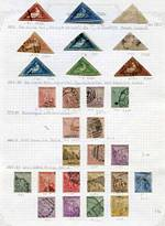 Collection of 51 used stamps from 1855 to 1904 including 1d (2), 4d (3), 6d (2) and 1/- Triangle issues in average condition, plus range of 24 mint Transvaal issues. Very high catalogue value.