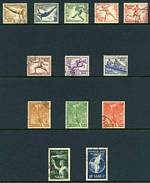 1936 Olympic Games set FU and additional set on [folded] souvenir sheet with special cancel, Miniature Sheet set of 2 CTO without gum, cancelled with Olympic Stadium special cancellations and 5 related postcards, plus West Berlin, Saar, Monaco, Finland (cover) and Hungary 1952-53 Olympic Games sets FU, Austria 1952 2s.40 + 60g Winter Olympics FU, Norway 1952 Winter Olympics set on FDC (2) and Belgium 1960 World Refugee Year M/S FU. Some light toning blemishes. Catalogue Value £526.00.