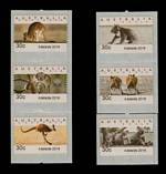 2016 30¢ Adelaide Emergency Counter Printed Stamp Type A set of 6 MUH. These stamps were issued in Adelaide only, for a few days in early January 2016, when there was a shortage of 30¢ stamps after the postage rate increased from 70¢ to $1.00.