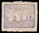 Circa 1911 'PAMABA' advertising label in violet, a few faults in common with the other 2 known examples and some paper adherence but sound. ['PAMABA' soap was promoted as good for Pa, Ma & Ba(by)]. Attractive and rare.