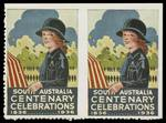 1936 South Australia Centenary Celebrations complete set of 9 different labels, plus additional Flower Festival, Girl Guide and Scout labels MUH. Girl Guide label imperforate between pair. Attractive.