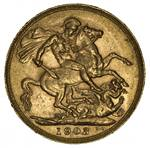 1903 Perth Mint KEVII Gold Sovereign VF.