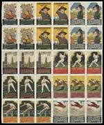 1936 South Australia Centenary Celebrations MUH sheet of 30 containing 9 different labels including 3