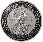 1992 2oz, 10oz and 1kg Silver Kookaburra large coin proof set in presentation case without certificate. Slightly faulty case.