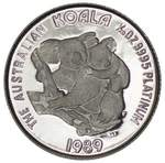1989 Perth Mint 1/20oz Platinum Proof Koala coin, with certificate in presentation folder. Contains 1.571g of .9995 Platinum.