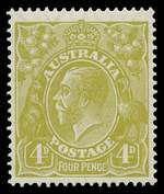 1928 4d Olive Small Multiple Wmk perf 14 KGV MUH and well centered.
