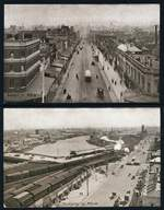1911 1d Rose-Red KGV Full Face postcards with BOURKE ST. MELB in Brown, FLINDERS ST. MELB in Sepia, SPRING ST.MELB in Blackish-Green and SWANSTON ST. MELB in Dull Green Scenic Views of Victoria unused. FLINDERS ST and SWANSTON ST with bent corners. ACSC P21(4,5,6 and 7). Catalogue Value $500.00.