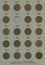 Complete set of Halfpennies from 1911 to 1964, excluding 1923 and a complete set of Pennies from 1911 to 1964, excluding 1930, in Dansco albums. Includes most different mintmarks. Typical mixed grades, 1925 Penny grades VF.