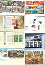 Selection of uncancelled miniature sheets from 1995 to 2014 on Australia Post First Day Covers. Face Value $356.53.