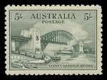 1932 5/- Green Sydney Harbour Bridge MUH and well centered, with small gum disturbance and tiny mark.