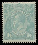 Complete collection of 72 different MLH KGV issues, including all Die and OS overprint issues. 4½d Violet Die II Small Mult Wmk perf 13½ CTO. Generally fine MLH condition with the odd fault. Retail $3,164.00.