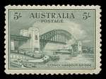 1932 5/- Green Sydney Harbour Bridge MUH and reasonably well centered, but regummed..