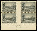 1934 Victorian Centenary perf 11½ set in MUH well centered gutter blocks of 4, the 2d and 1/- values being Ash imprint blocks. Catalogue Value $960.00.