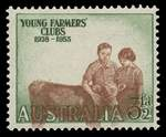 1953 3½d Young Farmers with misplaced vignette MUH. ACSC 303c.