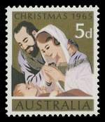 1965 5d Christmas with Blue colour omitted MUH. ACSC 435cb. Catalogue Value $1,500.00.