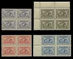 1931 Kingsford Smith set and 1931 6d Brown Airmail in MUH well centered blocks of 4.