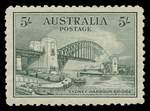 1932 5/- Green Sydney Harbour Bridge MUH and well centered, but regummed.