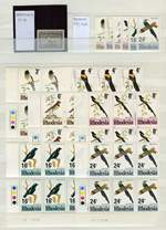 Collection of 574 stamps and 3 miniature sheets featuring Birds MUH including many sets and some blocks from a range of countries in Lighthouse LP 4/30 stockbook. Noted Greenland 1945 5k Eider Duck, Papua New Guinea 1964-65 Bird set in blocks of 4 and Jordon 1970 Bird set. High catalogue value and odd toning blemish. Also Stanley Gibbons 2003 Collect Birds on Stamps 5th Edition catalogue.