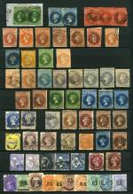 Collection of hundreds of mostly used stamps with all States represented including watermark, perforation and shade variations, a handy range of imperf issues, highly catalogued items and some Railway and Duty stamps in KEK stockbook. Noted South Australia 1855 1d Dark Green and 6d Dark Blue Queen Victoria London Print imperf pairs FU with varying margins. Some duplication and variable condition.
