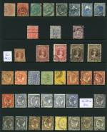 Collection of 238 mostly used stamps with all States represented, including handy items, several highly catalogued issues and some duplication. Noted Queensland 1860 1d Carmine-Rose Chalon Head imperf FU, 1897 2d Blue perf 12 Queen Vic with Cracked plate variety, Tasmania 1853 4d Orange Courier imperf GU and Western Australia 1902 10/- Deep Mauve Queen Vic CTO without gum (2, one perforated OS). Odd minor fault.