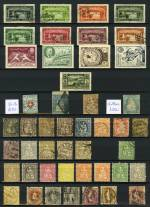 Collection of hundreds of MLH and fine used stamps from 1850's to 1960's including many sets and highly catalogued items from a range of countries in Lighthouse stockbook. Noted Bermuda 1950-52 2/6 (2), 5/-, 10/- and £1 Perf 13 KGVI MLH, Grenada 1938-50 KGVI Definitive set MLH, 1951 KGVI Definitive set MLH, 1953-59 QEII Definitive set MLH, Hong Kong 1917-21 KGV Wmk Mult Crown CA O/P China set to $1.00 MLH, 1935 Silver Jubilee set MLH, 1941 Centenary of British Occupation set MLH, Lebanon 1937 Paris International Exhibition set FU, Malaysia 1945-48 KGVI O/P BMA set MLH, Malaya Kedah 1957 Sultan Badlishah set MLH, Nyasaland Protectorate 1938-44 2/-, 2/6, 5/-, 10/- and £1 KGVI MLH and many other handy items. Some MUH content. Very high catalogue value.