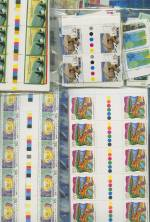 Accumulation of Australian Antarctic Territory, Christmas Island Australia issues and Cocos (Keeling) Islands Australia issues in singles, blocks, gutter blocks of 10 and miniature sheets. Face Value $1,048.00.