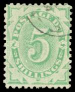 Collection of 125 used Postage Due issues from 1902 to 1960 including watermark, perforation and die variations with values to 5/- and some duplication. Noted 1903 5/- Emerald-Green Design Complete Crown NSW Wmk perf 11 FU. Mainly good to fine used condition.