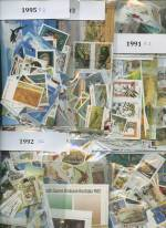 Accumulation of MUH stamps from 1985 to 1995, with a few earlier issues. Face Value $925.00.