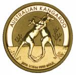 2010 Perth Mint Kangaroo 1/10oz Gold Proof coin, without certificate. Contains 3.133g of .9999 Gold.