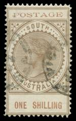 1902 1/- Brown Thin Postage Long Tom error