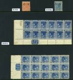 Collection of 108 mint stamps overprinted OS from 1879 to 1892, including watermark, perforation and shade variations. Varying duplication, including several blocks and some MUH content. Usual variable condition. Catalogue Value £2,005.00.