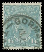 1932 1/4 Deep Turquoise C of A Wmk KGV good used with near complete Gormanston 13JL34 Tas CDS cancellation. An extremely rare shade with only a few used examples recorded. (The ACSC states used examples are even rarer than mint). 2019 Ceremuga certificate states genuine in all respects. ACSC 131C. Catalogue Value $6,250.00.